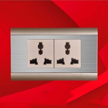 New 2gang 10A universal power socket,multifunction wall socket, Hot  sell