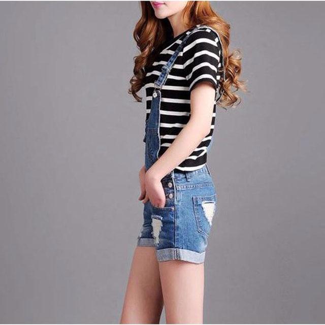 Online Shop Summer Blue Combinaison Short Femme Combishort Plus Size