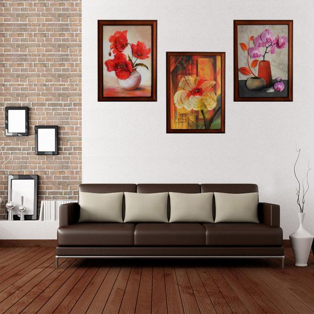 Online Shop Wooden Frame 3D Flower vase Wall Painting Art Hang ...