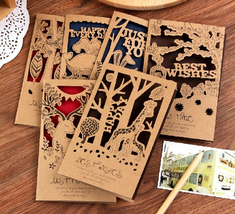 Hot selling business cards diy fashion retro animal hollow style hot selling business cards diy fashion retro animal hollow style kraft paper card setmantic styleletter envelope ll 926 in business cards from office reheart Choice Image