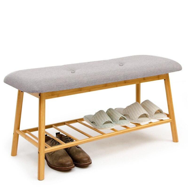 16%, Massivholz Schuhe Bank Europäischen Moderne Minimalistischen Schuh Rack Hocker Stoff Bett Schwanz Dressing Hocker Modischer (In) Stil;