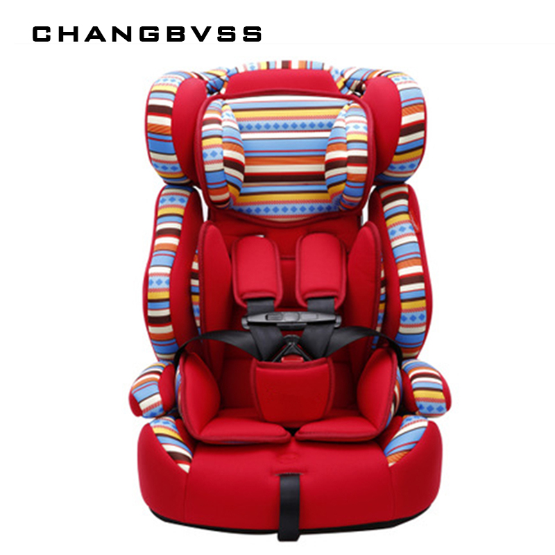 5 Point Harness Thick Bottom Kids High Chair Safety Car Seats Luxury Infant Child Chair Car Kids Car Booster Seat Soft Portable four colors infant basket style safety car seat baby car seat portable child automotive safety seats kids outdoor handle cradle