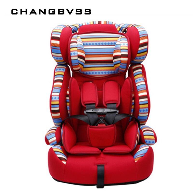 5 points harnais fond épais enfants chaise haute sécurité sièges de voiture de luxe infantile enfant chaise voiture enfants voiture Booster siège doux Portable