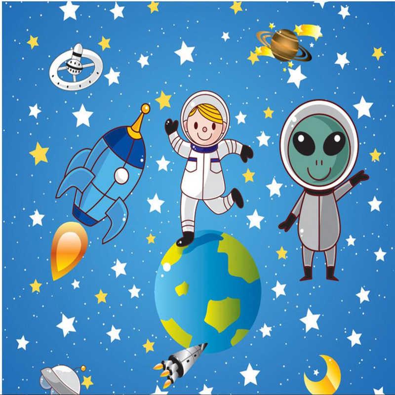 Wellyu Custom Wallpaper 3d Aerospace Space Cosmos Galaxy Cartoon