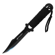 LumiParty Combat Tactical Stainless Steel Knife for Outdoor Camping Survivor with Nylon Sheath Fixed Blade