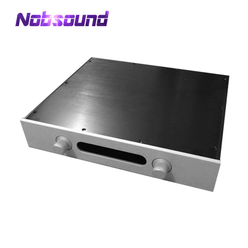 цена на Nobsound Preamplifier Enclosure Empty Aluminum Chassis DAC Cabinet DIY with LED Display