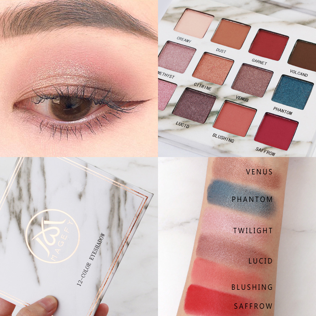 Beauty & Health New Hot Popular 12 Color Marble Eyeshadow Palette Professional Fashion Makeup Eye Shadow Palette Cosmetic Set Eye Shadow Beauty