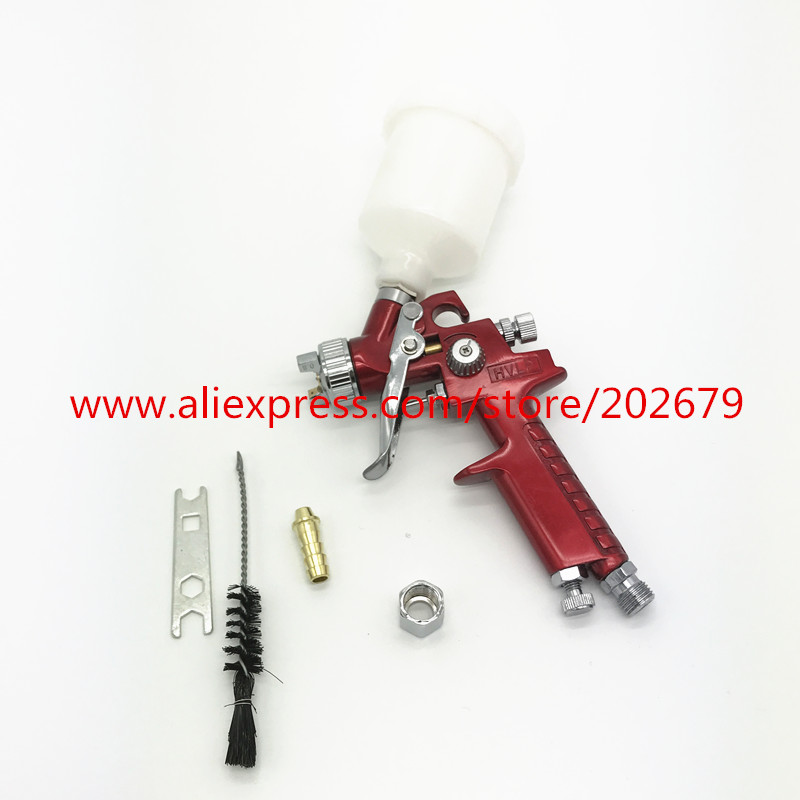 Hot Sale 0 8mm Nozzle H 2000 Professional Hvlp Spray Gun Mini Air Paint Spray Guns Airbrush For