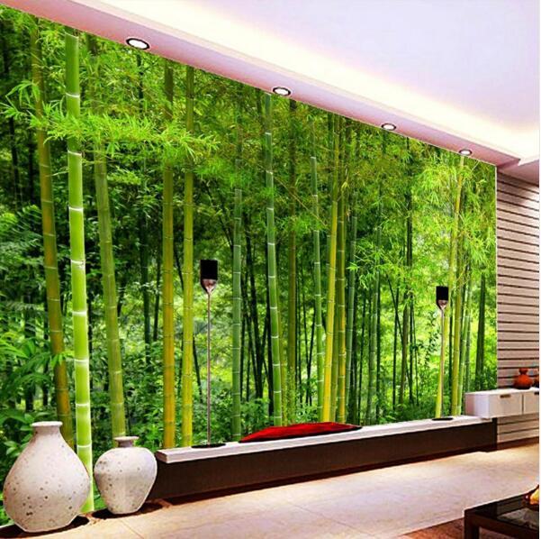 decoración de bambú en la sala de estar Ltimo Papel De Pared De Bamb De Alta Calidad Sala De Estar