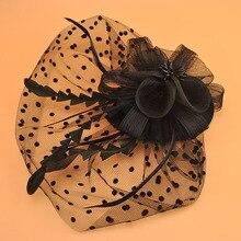 chapeau mariage 블랙/화이트/퍼플 신부