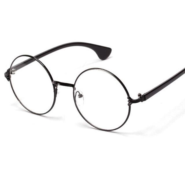 Vintage Round Oversized Metal Frame Glasses Can Put Degree Myopia ...