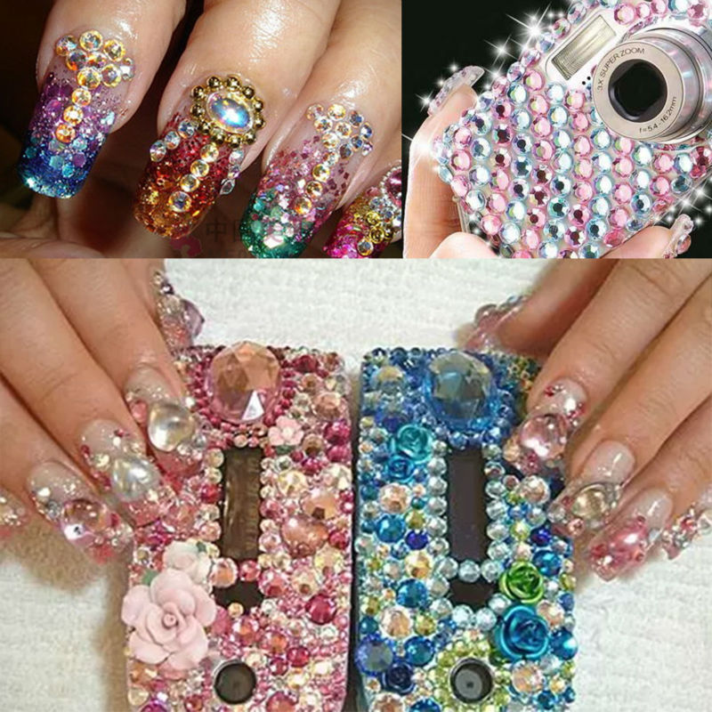 Nail Art Jewelry Nails Decoration Red Color Ss12 1440pcsbag Crystal