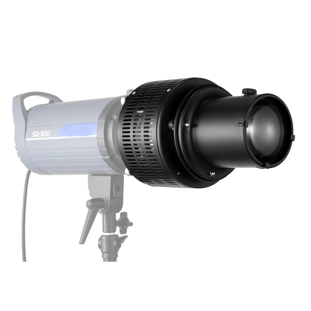 Universal Zooming Focus Monolight Head Snoot KIt For Dramatic Light Effects With 5 color Gel And 5 shape Hollowed Card in Photographic Lighting from Consumer Electronics