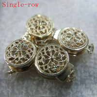 10 Mm Single Row Two Face 14K Yellow Solid Gold Clasp