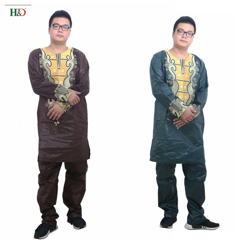 Pakaian Afrika untuk pakaian lelaki 2019 pakaian tradisional lelaki - Pakaian kebangsaan - Foto 5