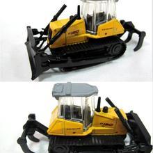 1: 87 легкосплавная модель автомобиля, высокая симуляция инженерных транспортных средств, бульдозеры, вилочный погрузчик, экскаватор металлическая модель автомобиля