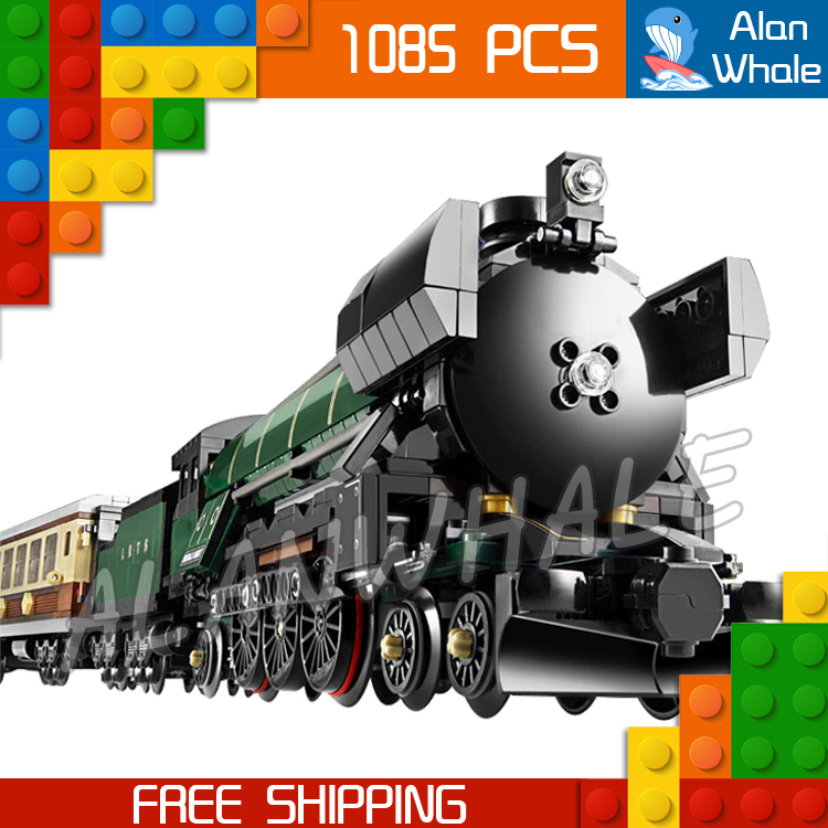 1085pcs New Lepin 21005 Creator Emerald Night Train Building Kit 3D Model Blocks Toys Bricks Compatible with Lego 2016 new lepin 21005 creator series the emerald night model building blocks set classic compatible legoed steam trains toys