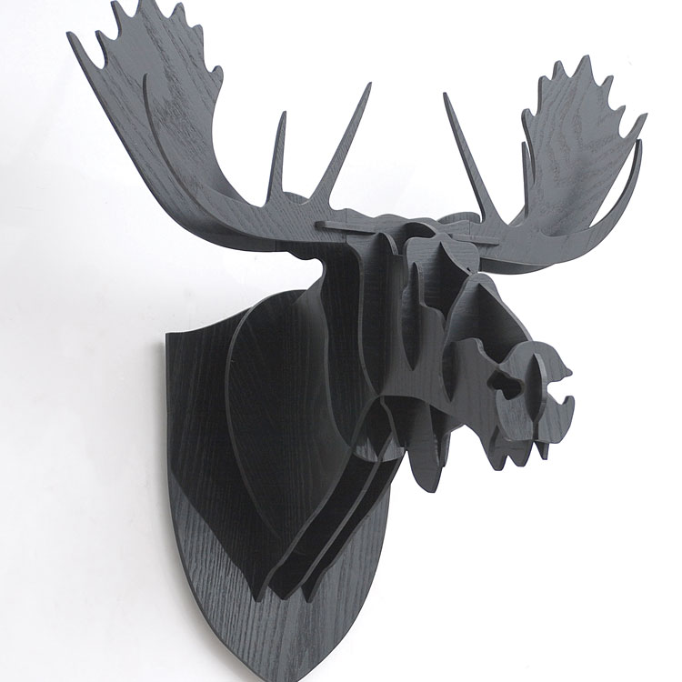 3D Puzzle Wooden DIY Creative Moose Head Wall-mounted Wood Gift Craft Home Decor Murals Nordic Moose Animal Head Wall Decoration3D Puzzle Wooden DIY Creative Moose Head Wall-mounted Wood Gift Craft Home Decor Murals Nordic Moose Animal Head Wall Decoration