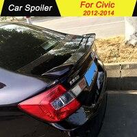 For Honda Civic 2012 2013 2014 Spoiler ABS Material Tail Wing Decoration Primer Color Rear Trunk spoilers wings For Honda Civic