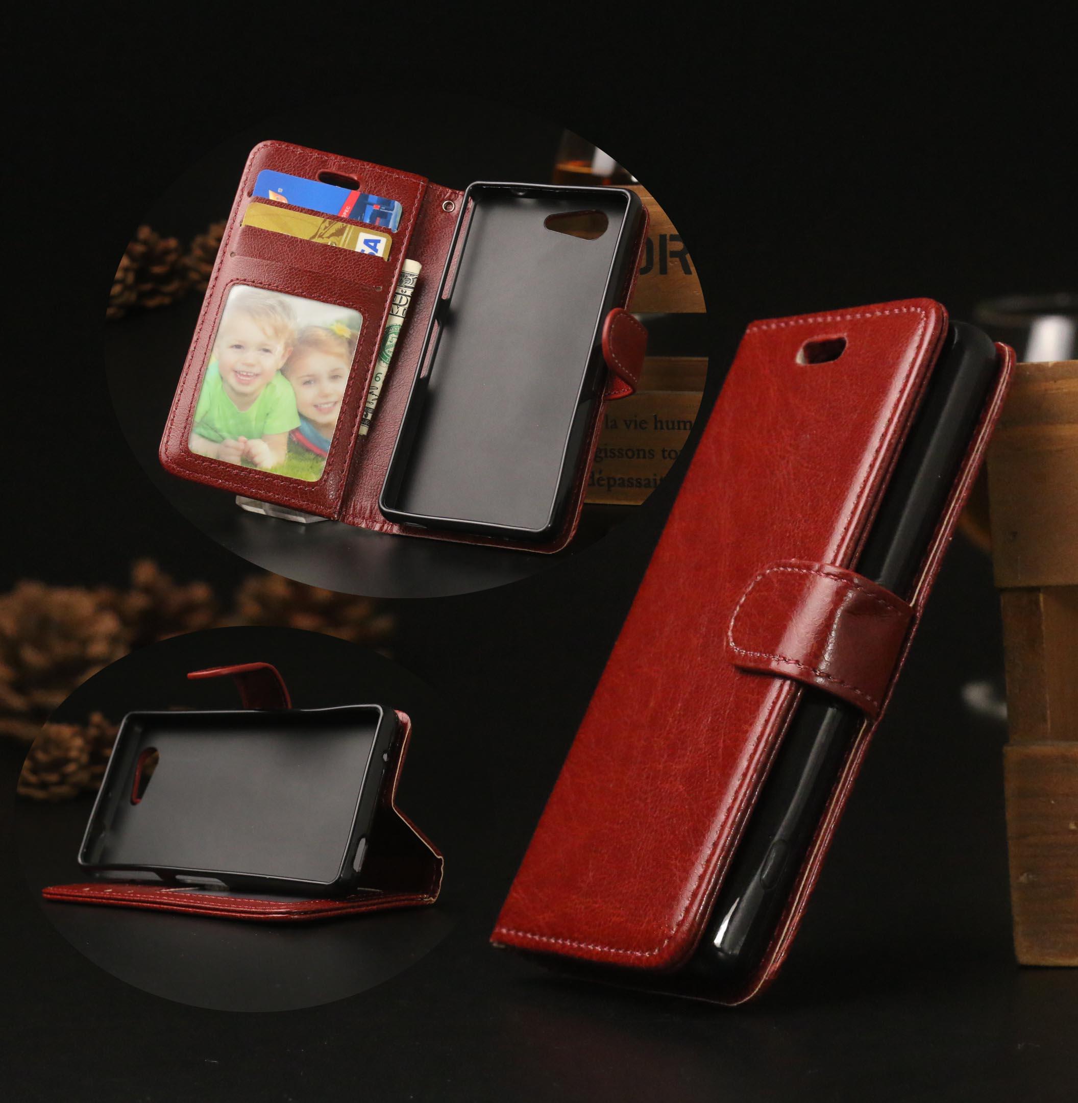 Retro Stylish Flip Leather Case For SONY XPERIA Z3 Mini Z3 Compact M55W