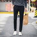 2016 Nova Moda de Inverno dos homens da Corda Casual Calças Sweatpants Homens Cintura Elástica Suor Calças Basculador Usava Calças de Lã Quente