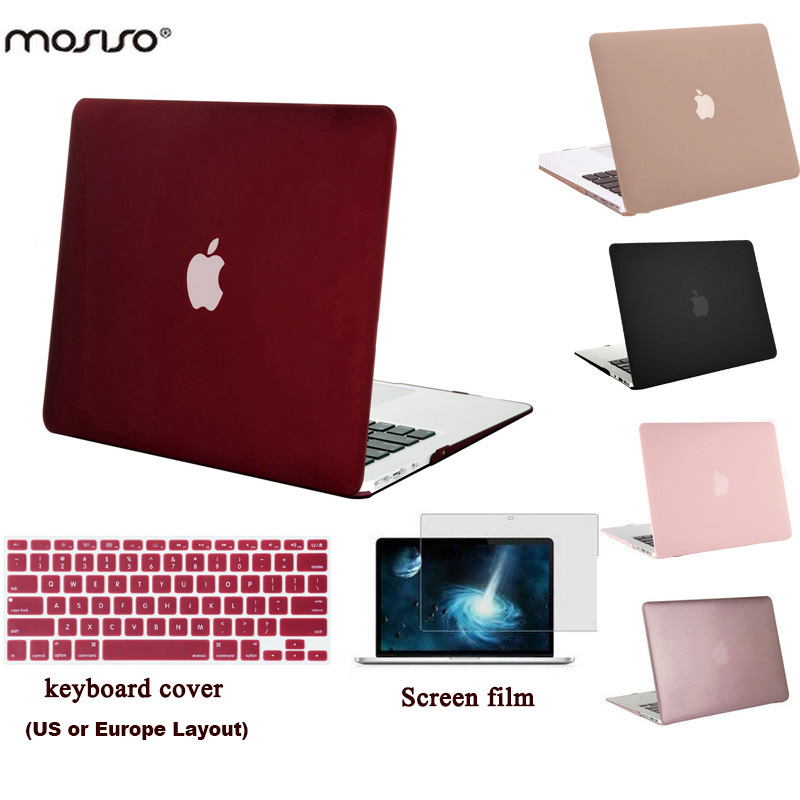 MOSISO Laptop Skalveske til MacBook Pro 13 Retina A1425 / A1502 Matt Skallet Dekselveske til Macbook Air 13 13,3 tommer A1466 / A1369