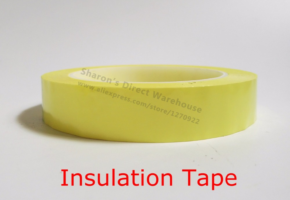 50mm*66M*0.06mm Insulation PET Mylar Tape for Transformer Motor Wrap, Coil Pack, Hi-Temp Resistant, Free Shipping, Color Choose 2x 13mm width adhesive insulation mylar tape for transformer motor capacitor coil wrap anti flame black