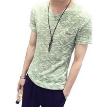 2017 New Brand Top T Shirt Fashion Solid cotton t-shirt Slim Fit short sleeves t shirt v neck T-shirt print t shirt men