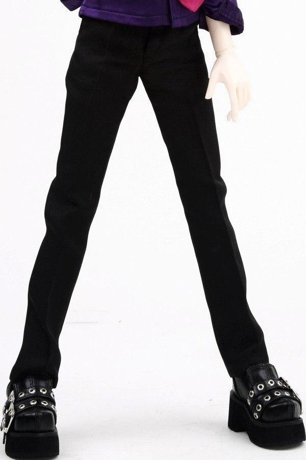 [wamami] 529# Black Pants/Trousers 1/4 MSD DZ BJD Dollfie 1 3 1 4 1 6 1 8 1 12 bjd wigs fashion light gray fur wig bjd sd short wig for diy dollfie