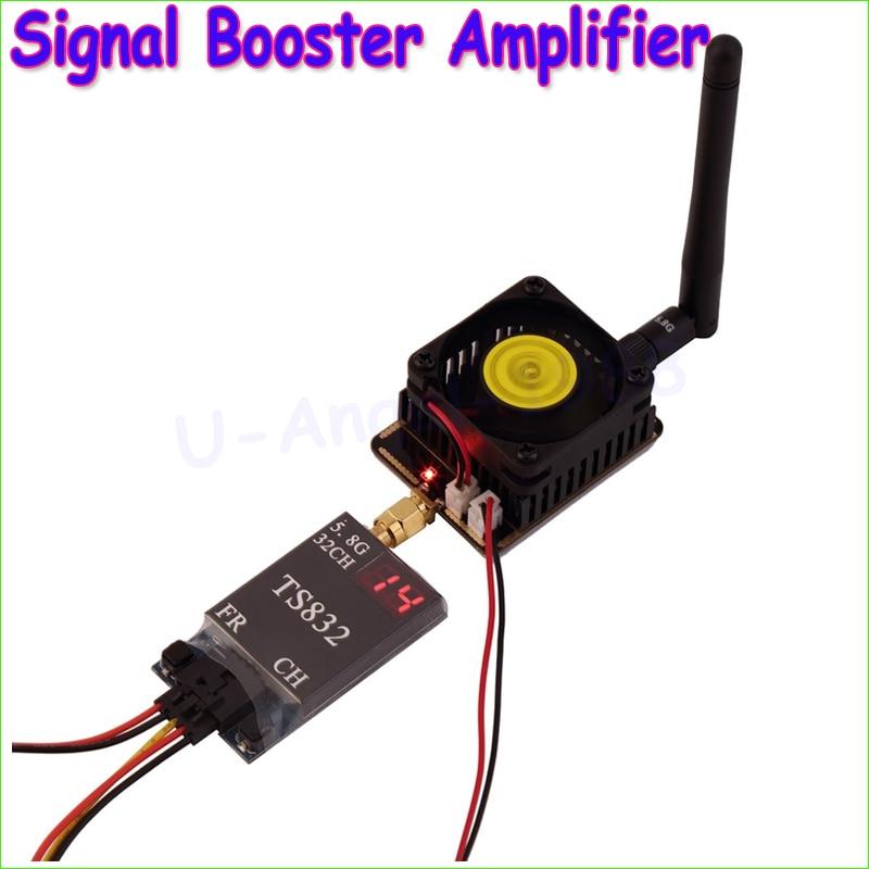 1set 5.8G 3W/4.5W Wireless AV Transmitter Signal Booster Amplifier For FPV Wholesale wholesale 1pcs 5 8ghz fpv transmitter rf signal amplifier amp for airplane helicopter model