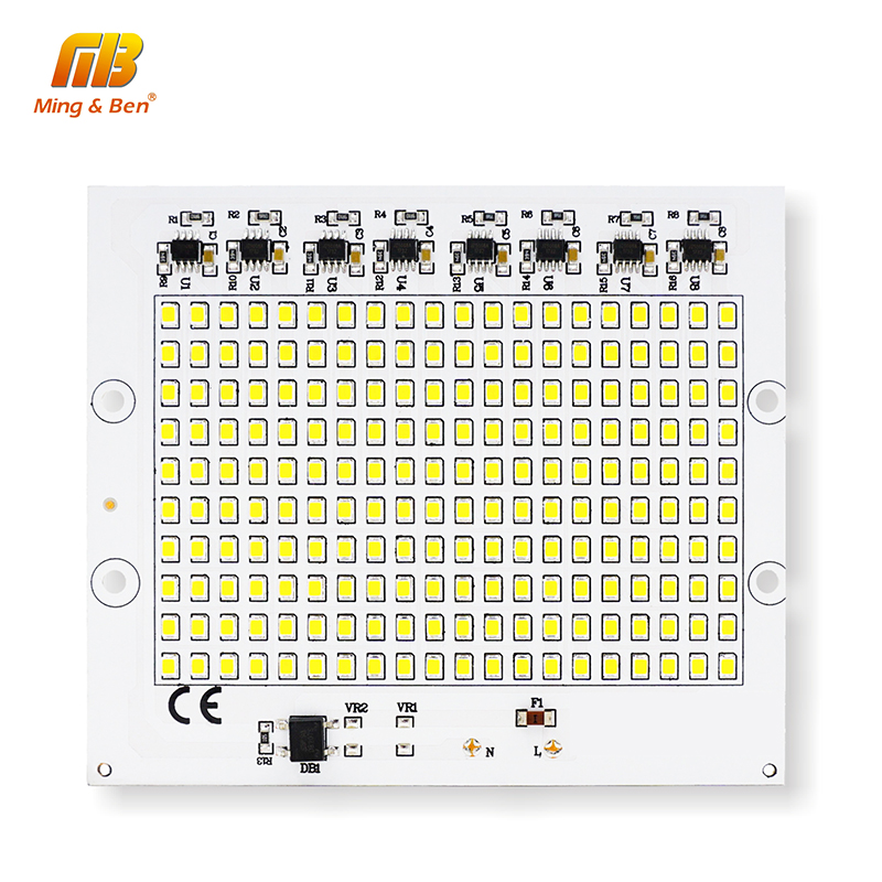 DIY LED SMD Chip Lamp 10W 20W 30W 50W 100W Light Chip AC220V Input Direkte Smart IC Fit til udendørs lys kold hvid varm hvid