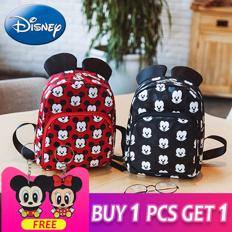 Boys Girls Kids Nursery Toddler Cartoon Mickey Mouse Backpack Schoolbag Mini Bag