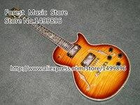 Top Vender Chinês LP Personalizada Da Guitarra Elétrica Dupla Buracos F Corpo Oco Guitarra Para Venda