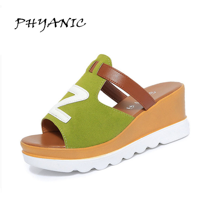 PHYANIC 2017 New Women High Heel Sandals Summer Open Toe Platform Shoes Woman Wedges Leisure Beach Dress Shoes Wholesale phyanic 2017 gladiator sandals gold silver shoes woman summer platform wedges glitters creepers casual women shoes phy3323