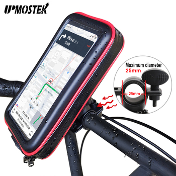 UPMOSTEK Waterproof Bike Motorcycle Phone Holder Mount For Xiaomi Redmi 4X Note 5 5 Plus A1 Mi 8 Phone Touch Screen Bicycle Bag iphone xs 財布