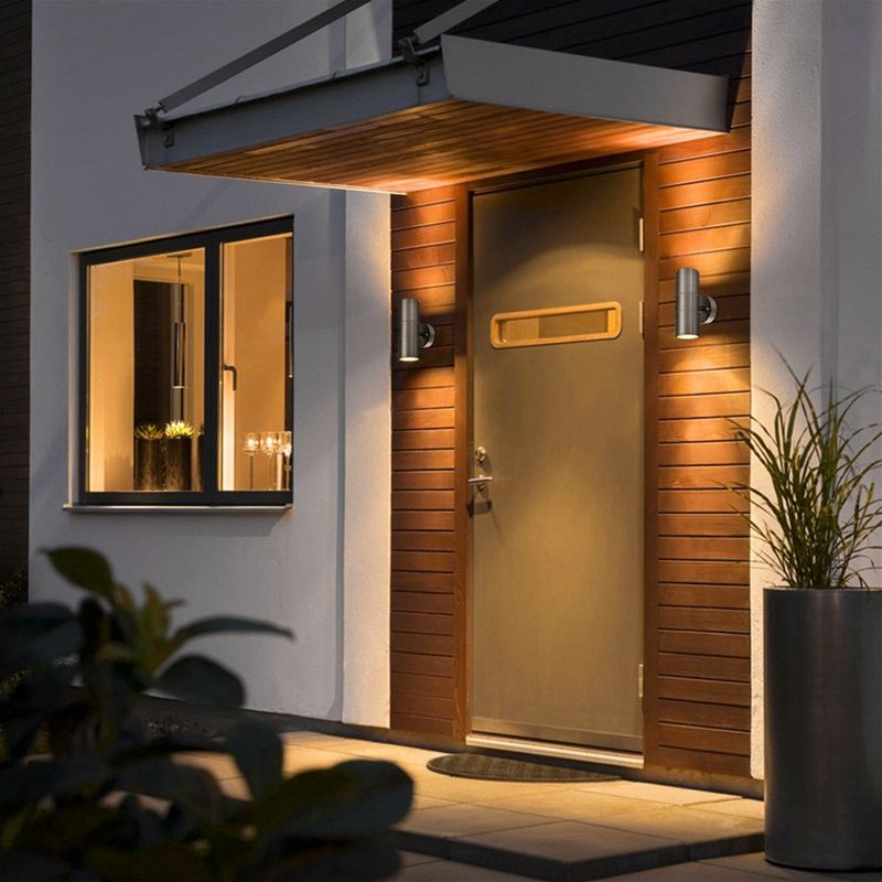 Stainless Steel Up Down Wall Light GU10 IP65 Double Outdoor Wall Light in Wall Lamps from Lights Lighting