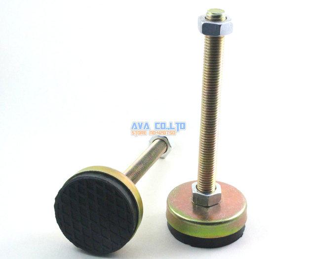 4 Unidades de 60mm Base M14x150mm Torno Muebles Pierna Pies de Nivelación Ajustable Antideslizante Pad