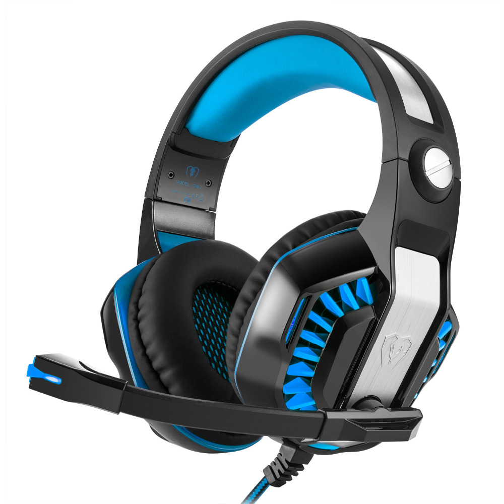 High Quality Gaming Headset Over-Ear Game Headphone Wire Computer Gaming Headphones With Microphone LED Light for PC Gamer