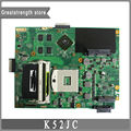 Para asus k52j a52j mainboard k52jc laptop motherboard ddr3 hm55 nvidia gt310m original de 100% testado frete grátis