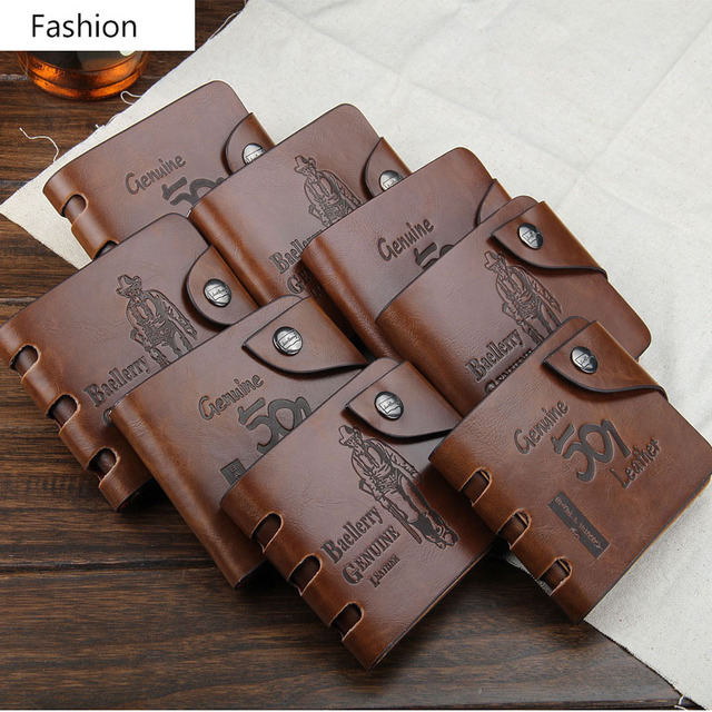 2017 New PU Leather Men Wallets Band Designer Top Quality European And American Style Fashion Coin Pocket Men's Purse Wallet