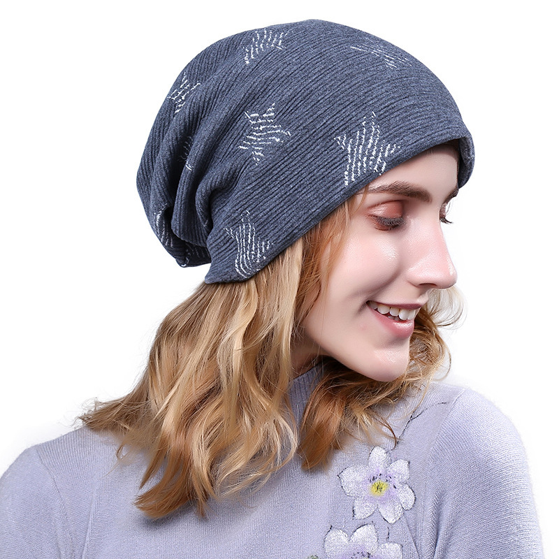 2017 Fashion Beanie New Star Pattern Head Winter Cap Men hats for Women Keep Warm Wool Knitting Hat gorro feminino 2017 new wool grey beanie hat for women warm simple style bad hair day knitting winter wooly hats online ds20170123 x24