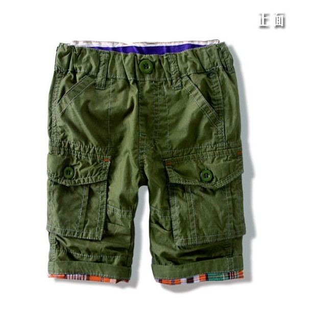 2 color Children's baby shorts quality  childrens wear shorts boy five minutes pants Many pockets shorts