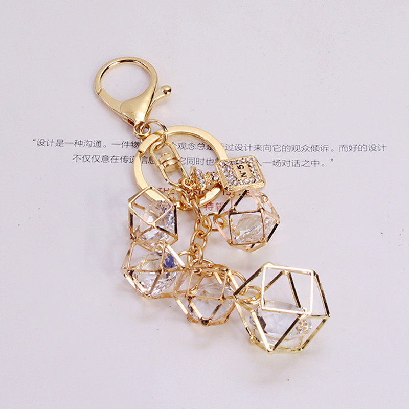Creative Personality Geometric Key Chain Fashion Keychain Bag Charm Pendant Car Keyring Couple Key Ring Wholesale Drop Shipping