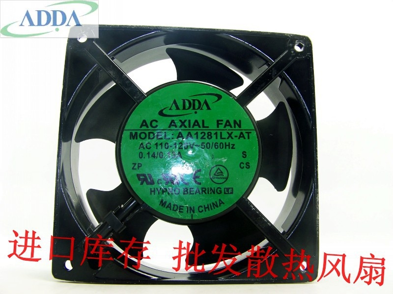 ADDA AA1281LX-AT 110-120V 50 / 60Hz 0.14 / 0.15A AC pumping flow cooling fan michael hutnak heat and fluid flow at a crustal scale