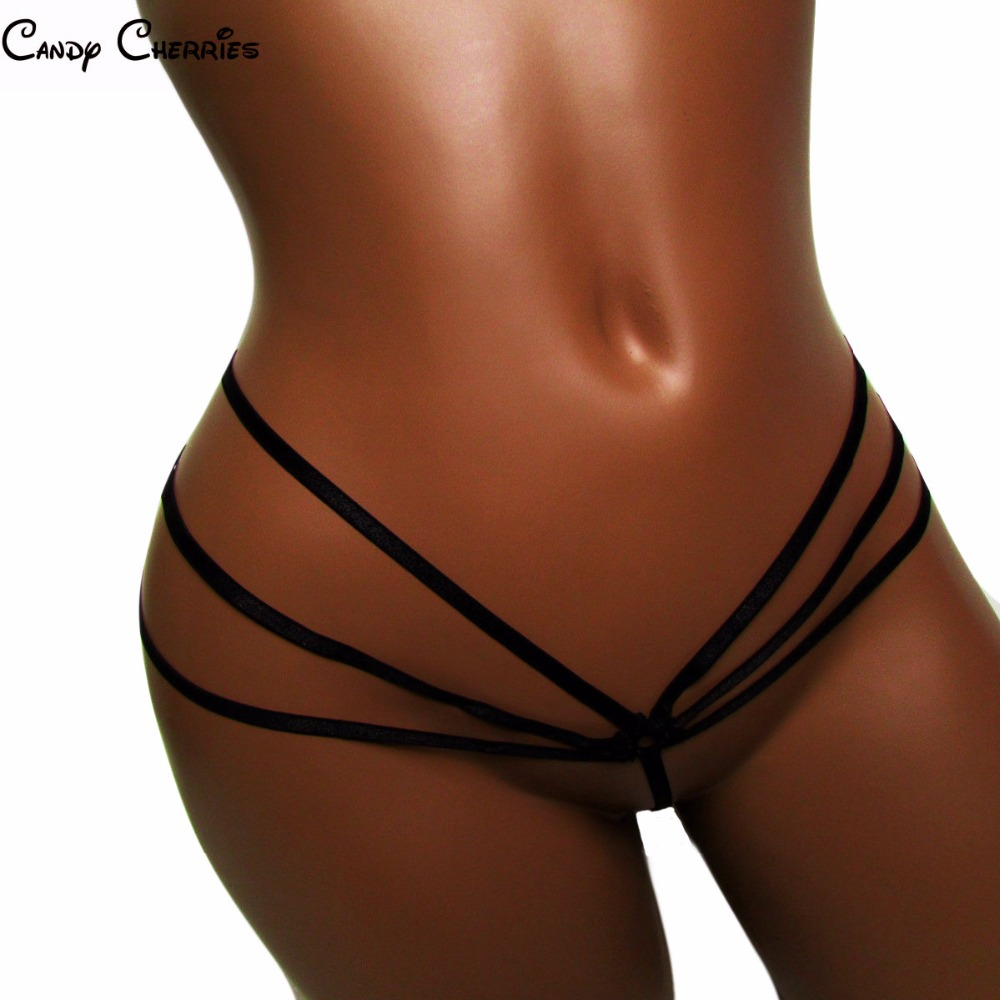 Candy Cherries spider string Sexy   panties   women micro thong tback bandage thong G-strings And ThongsTangas Women knickers