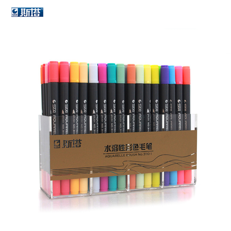 STA 3110 80 Color Dual Head watercolor brush markers pen sketch drawing paint manga dessin feutre boligrafos art supplies