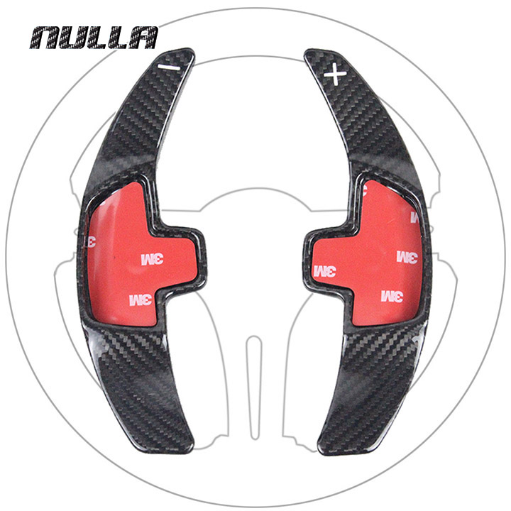 NULLA Carbon Fiber Steering Wheel Shift Paddle Extension Shifter Sticker For Mercedes Benz 2015 2016 E C S W205 GLC GLA Class car styling carbon fiber steering wheel paddle shifter fit for frs gt86 subaru brz scion fr s shift paddle