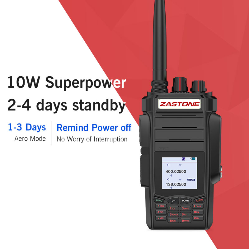 Zastone A19 10 w two way radio walkie talkie 136-174/400-480 mhz UHF VHF Prosciutto Portatile Palmare Two Way Radio 5-10 km 2800 mah