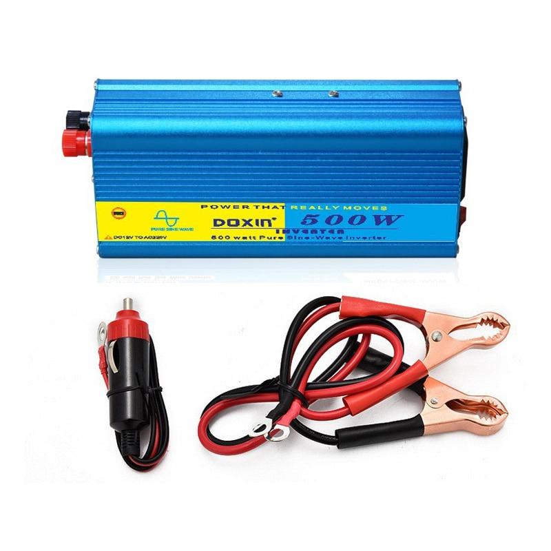 Portable Inverter Pure Sine Wave Inverter 500W Inverter 12V 220V AC 24V 110V Output Power Supply With USB Cigarette Lighter full power pure sine wave 300watt inverter south africa output single type