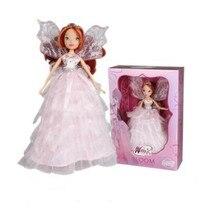 med originallåda Winx Club Doll regnbåge färgglada tjej Action Figures Fairy Bloom Dolls Classic Leksaker För Tjejer